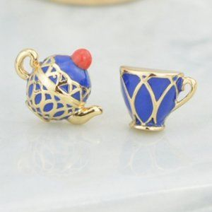 Kate Spade Enamel Glaze Teapot Teacup Earrings
